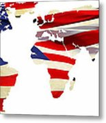 United Worldwide Metal Print