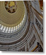 Unites States Capitol Rotunda Metal Print by Susan Candelario