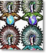 Unity-love-peace In This World Metal Print