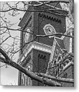 University Hall Tower Black And White  Metal Print
