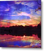 University Lakes At Twilight Metal Print
