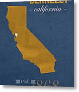 University Of California At Berkeley Golden Bears College Town State Map Poster Series No 024 Metal Print