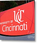University Of Cincinnati Sign Metal Print