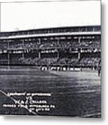 University Of Pittsburgh Vs W And J College Forbes Field Pittsburgh Pa 1915 Metal Print by Bill Cannon