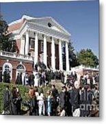 University Of Virginia Rotunda Graduation Metal Print