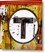 Unknown T - Railroad Art Metal Print