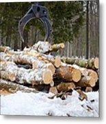 Unloading Firewood 3 Metal Print