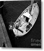 Unloading Fish At Wharf Two Monterey  Circa 1950  Metal Print