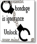 Unlock Your Mind Metal Print