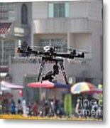 Unmanned Aerial Vehicle With A Digital Camera Metal Print