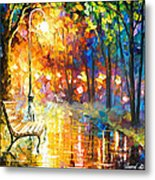 Unresolved Feelings - Palette Knife Oil Painting On Canvas By Leonid Afremov Metal Print