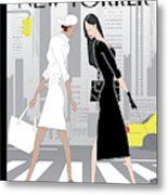 Crosswalk Metal Print