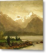 Untitled Mountains And Lake Metal Print