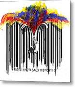 Unzip The Colour Code Metal Print