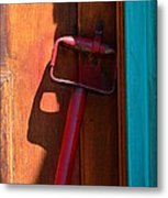 Up Against The Wall Metal Print