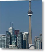 Up Close And Personal - Cn Tower Toronto Harbor And Skyline From A Boat Metal Print