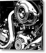 Up Close With Harley Metal Print