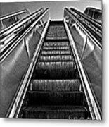 Up Escalator Metal Print