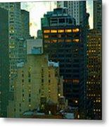 Up - Skyscrapers Of New York Metal Print