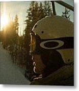 Up The Mountain Metal Print