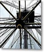 Up The Rigging Metal Print