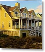 Up The Stairs At Isle Of Palms Metal Print
