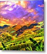 Upcountry Maui Sunset Metal Print