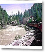 Uphill To Silverton Metal Print