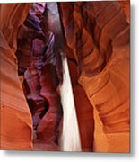 Upper Antelope Canyon Sunbeam Metal Print