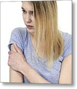 Upper Arm Pain Metal Print