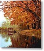 Upper Charles River in Autumn Metal Print