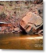 Upper Emerald Pools At Zion National Park Metal Print