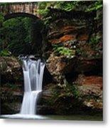Upper Falls At Hocking Hills State Park Metal Print