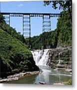 Upper Falls Of The Genesee River  Metal Print
