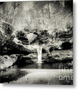 Upper Falls Old Mans Cave In Infrared Metal Print