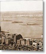Upper New York Bay Vintage Metal Print