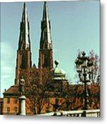 Uppsala Cathedral Steeples Metal Print