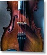 Upright Violin - Cool Metal Print
