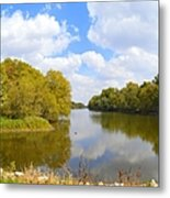 Upstream Metal Print