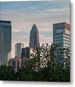 Uptown Charlotte North Carolina Cityscape Metal Print