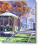 Streetcars Uptown New Orleans Metal Print