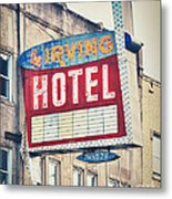 Chicago's Irving Hotel Metal Print