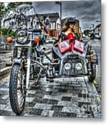 Ural Wolf 750 And Sidecar Metal Print