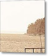 Urban Abstract Coast Line Metal Print