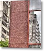 Urban Abstract Downtown Reflections Dayton Ohio Metal Print