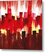 Urban Abstract Evening Lights Metal Print