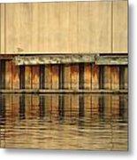Urban Abstract River Reflections Metal Print