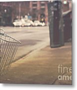 Urban Bicycle Metal Print