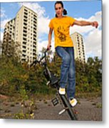Urban Bmx Flatland With Monika Hinz Metal Print