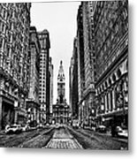 Urban Canyon - Philadelphia City Hall Metal Print